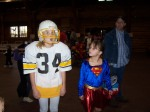 Grizz football player and Supergirl!